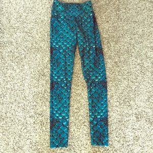 Mermaid yoga pants